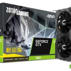 GPU GeForce® GTX 1660 CUDA cores 1408 Video Memory 6GB GDDR5 Memory Bus 192-bit Engine Clock Boost: 1845 MHz Memory Clock 8 Gbps PCI Express 3.0 Display Outputs 3 x DisplayPort 1.4 HDMI 2.0b HDCP Support Yes Multi Display Capability Quad Display Recommended Power Supply 450W Power Consumption 130W Power Input 8-pin DirectX 12 API feature level 12_1 OpenGL 4.5 Cooling IceStorm 2.0 Slot Size Dual Slot SLI No Supported OS Windows 10 / 7 64-bit Card Length 209.6mm x 119.3mm x 41mm / 8.3in x 4.7in x 1.61in Accessories User Manual